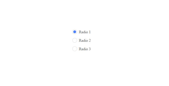 Custom radio buttons pure CSS & HTML